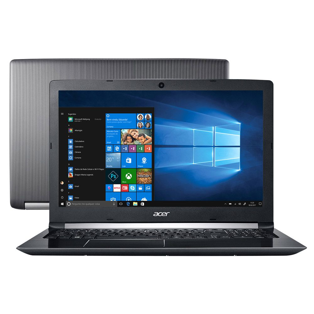 "Notebook Acer A515-51-51UX Intel Core i5-7200U, 8GB RAM, 1TB HD, Tela 15.6"" HD, Windows 10"