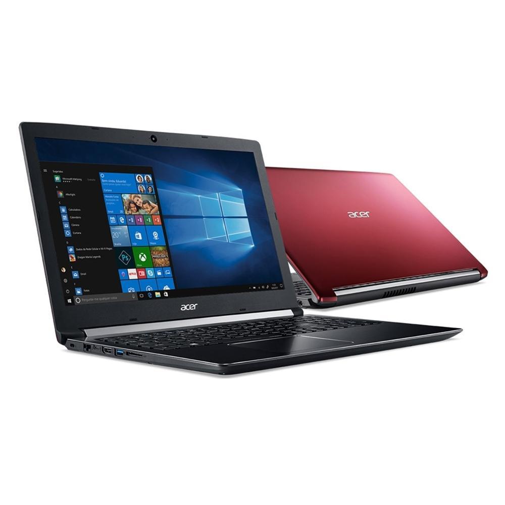 Notebook Acer Aspire 5, AMD A12-9720P, 8GB, 1TB, AMD Radeon RX 540 2GB, Windows 10, 15.6´, Vermelho - A515-41G-1480