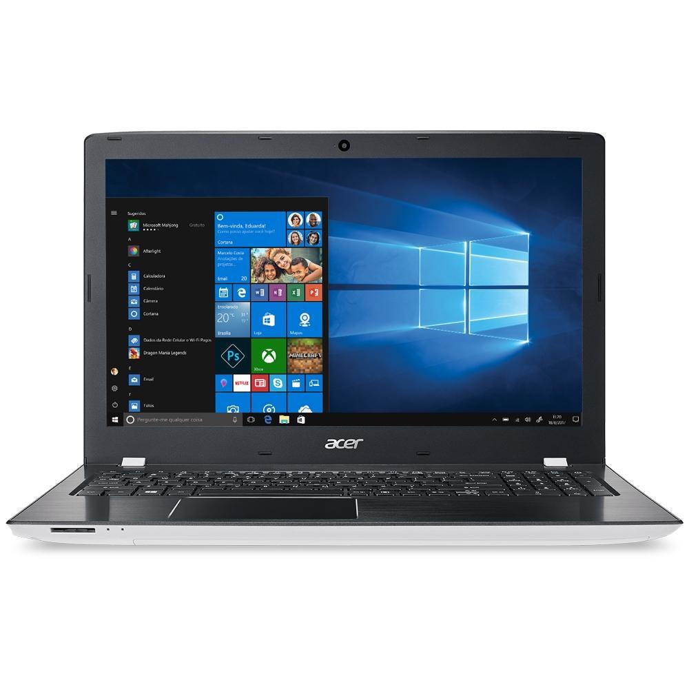 Notebook Acer Aspire E15, AMD A10-9600P, 4GB, 1TB, AMD Radeon R7 M440 2GB, Windows 10 Home, 15.6´, Branco e Preto - E5-553G-T4TJ