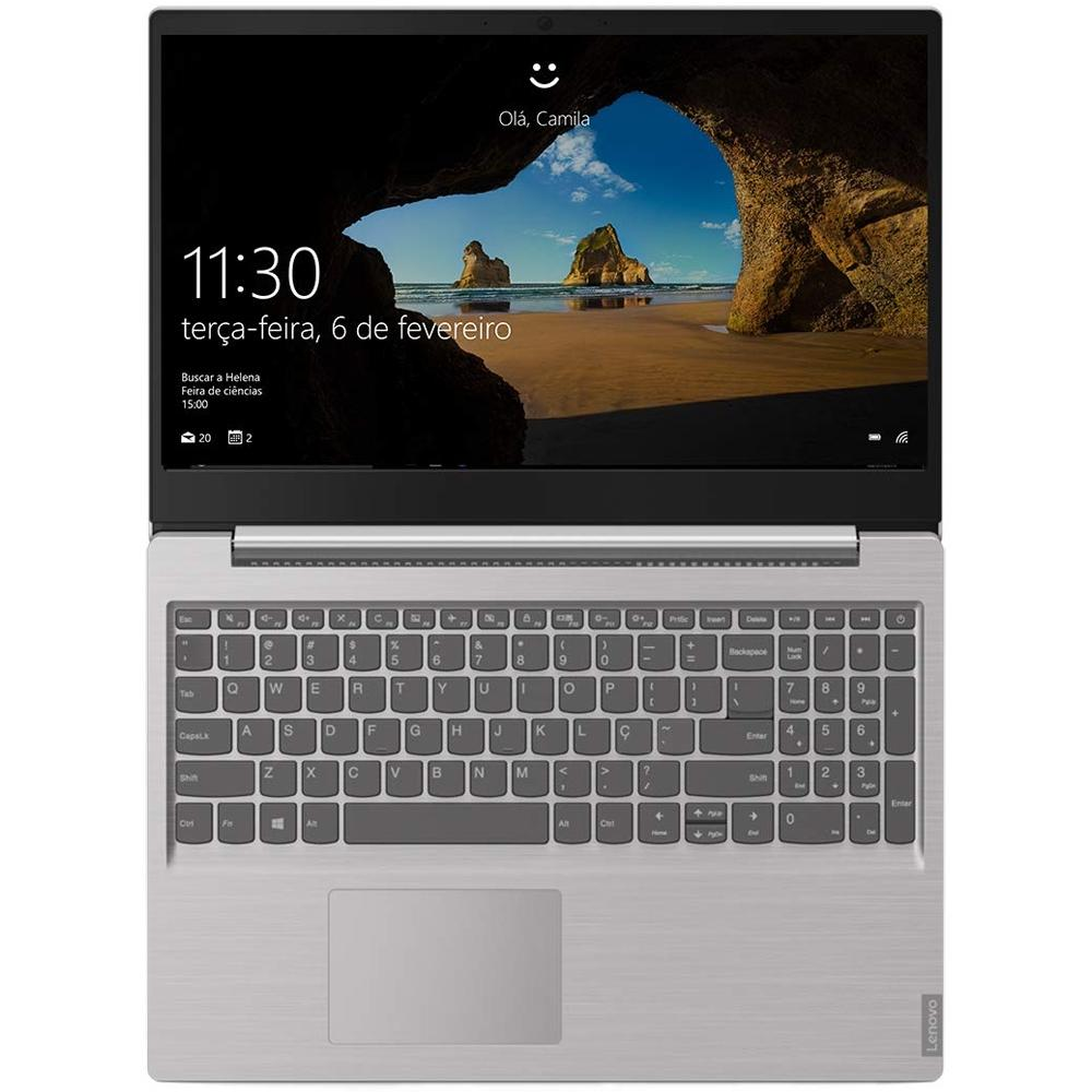 Notebook Lenovo Ultrafino Ideapad S145, Intel Celeron N4000, 4GB, HD 500GB, Linux, 15.6´, Prata - 81WTS00000