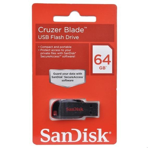 PenDrive Cruzer Blade Sandisk 64GB, USB 2.0 - SDCZ50-064G-B35