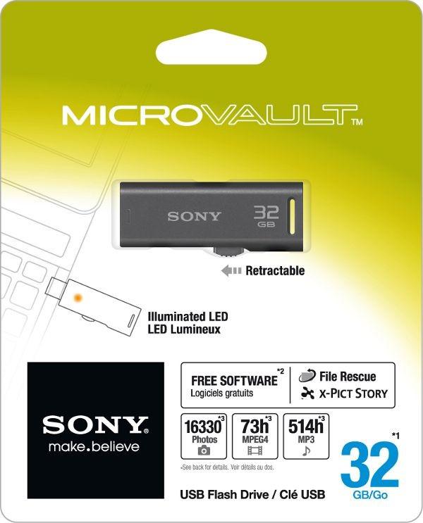 PenDrive Sony 32GB, USB 2.0, Preto - USM32GR