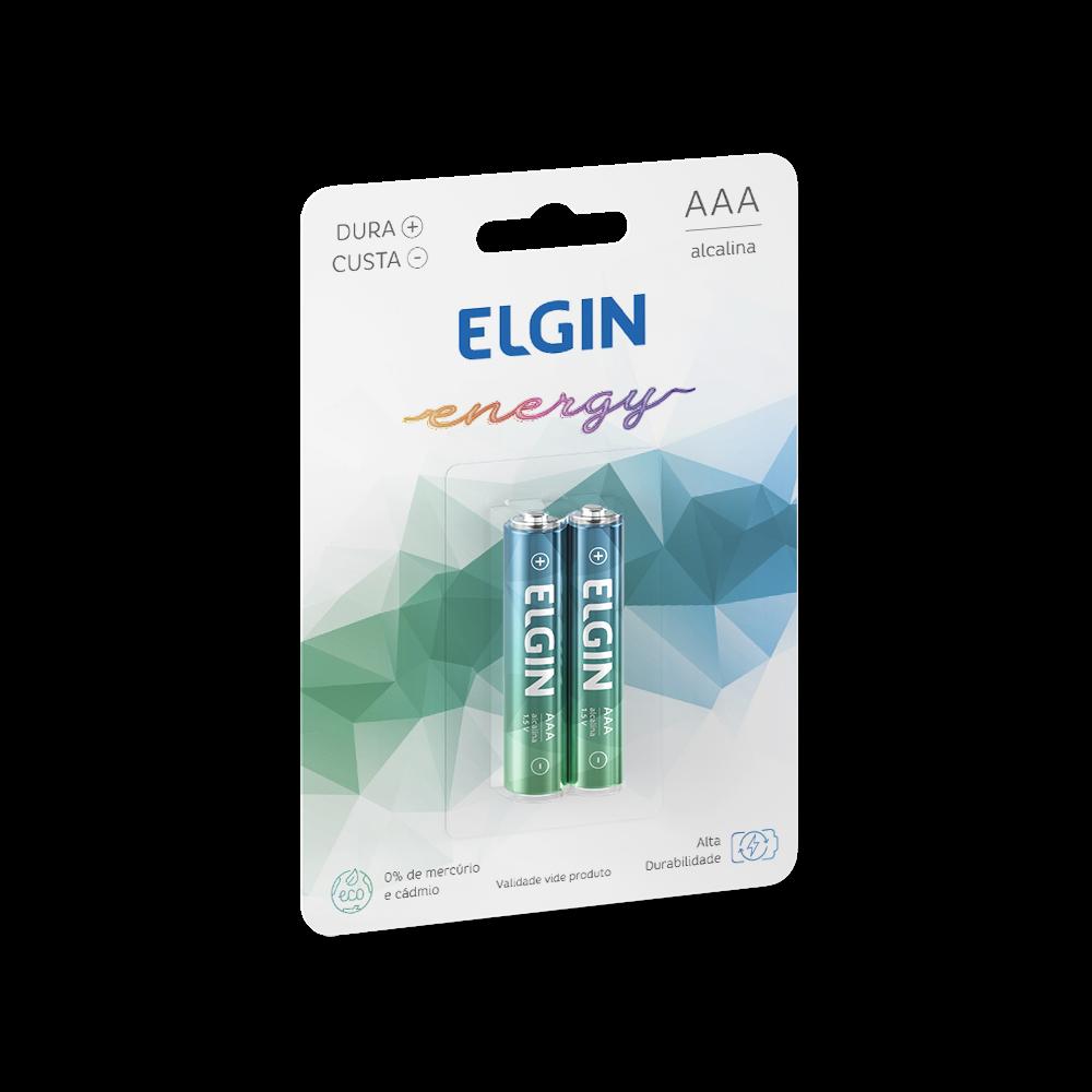 Pilha ALCALINA Elgin AAA C/2 - 82154