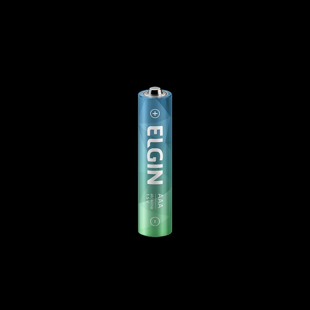 Pilha Alcalina Elgin AAA C/4 - 82155