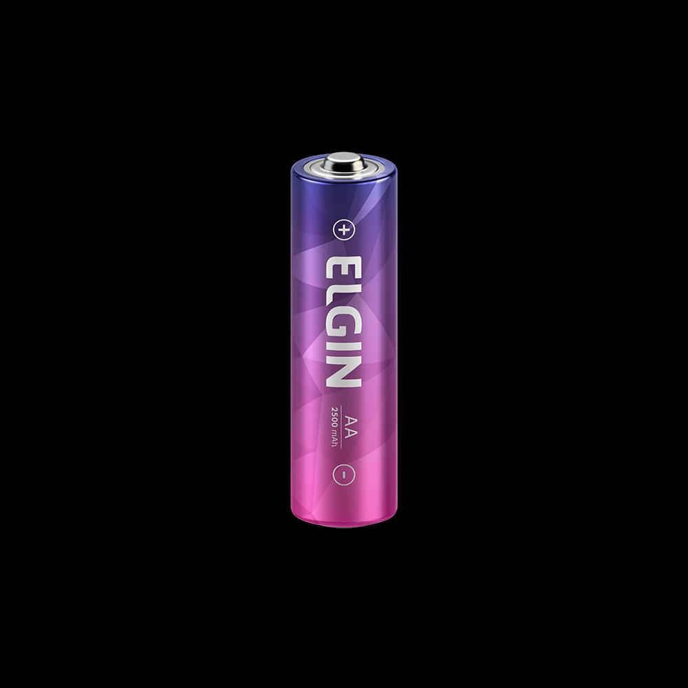 Pilha Recarregável Elgin AA 2500Mah C/4 - 82173