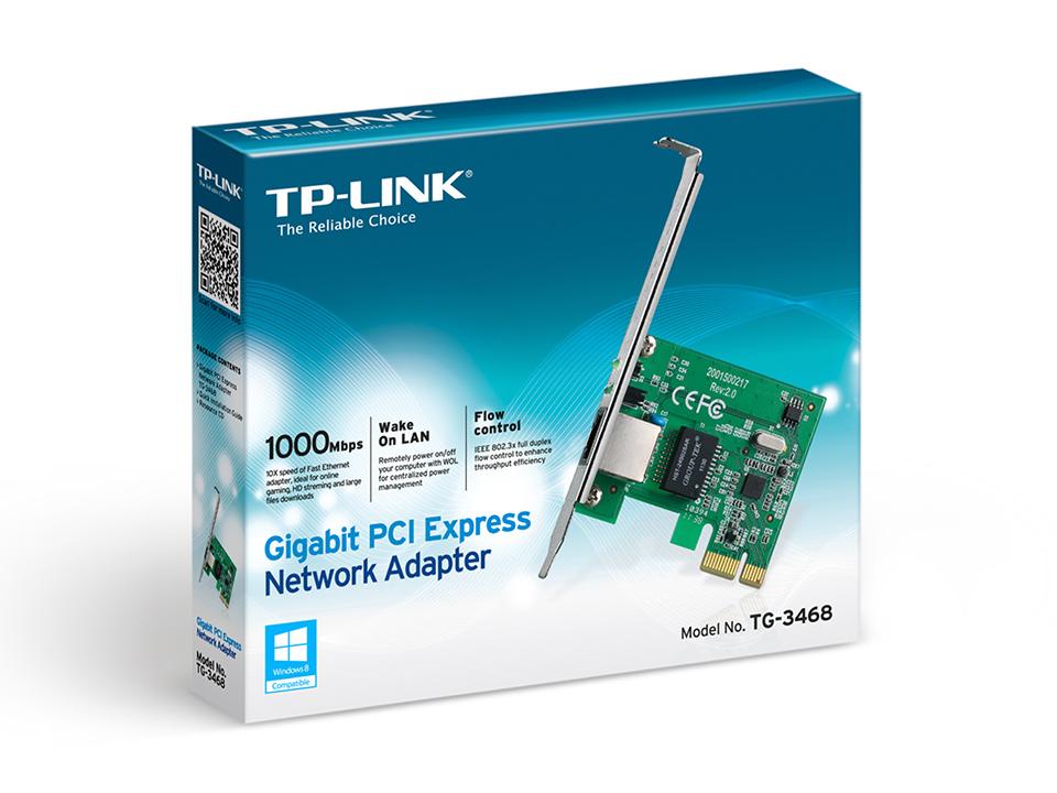 Placa de Rede TP-Link Gigabit PCI-Exp x1 - TG-3468