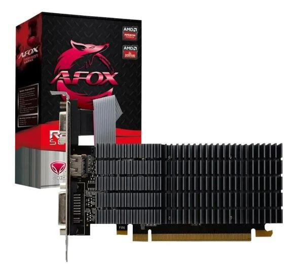 Placa de Vídeo Afox AMD Radeon R5 220, 2GB, DDR3 - AFR5220-2048D3L9