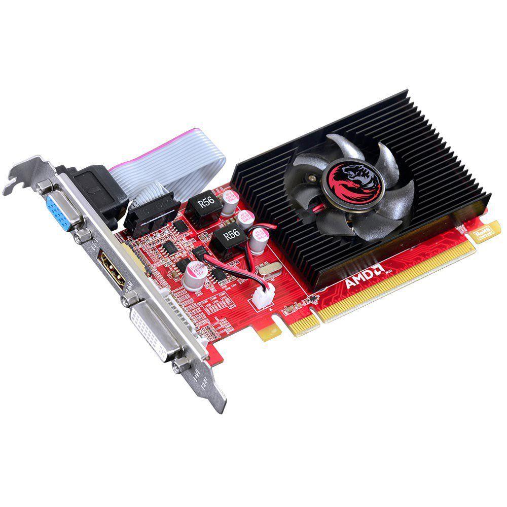 Placa de Vídeo VGA AMD RADEON HD 5450, 1GB DDR3 64Bits, Low Profile (LP Kit Incluso)