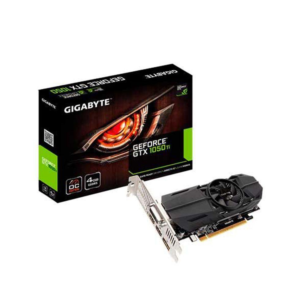 Placa de Vídeo VGA NVIDIA GIGABYTE GEFORCE GTX 1050 TI 4GB OC Low Profile DDR5 - GV-N105TOC-4GL