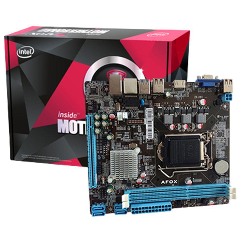 Placa Mãe Afox H81-MA6-V2 Chipset H81 Intel Lga 1150 Ddr3 Matx