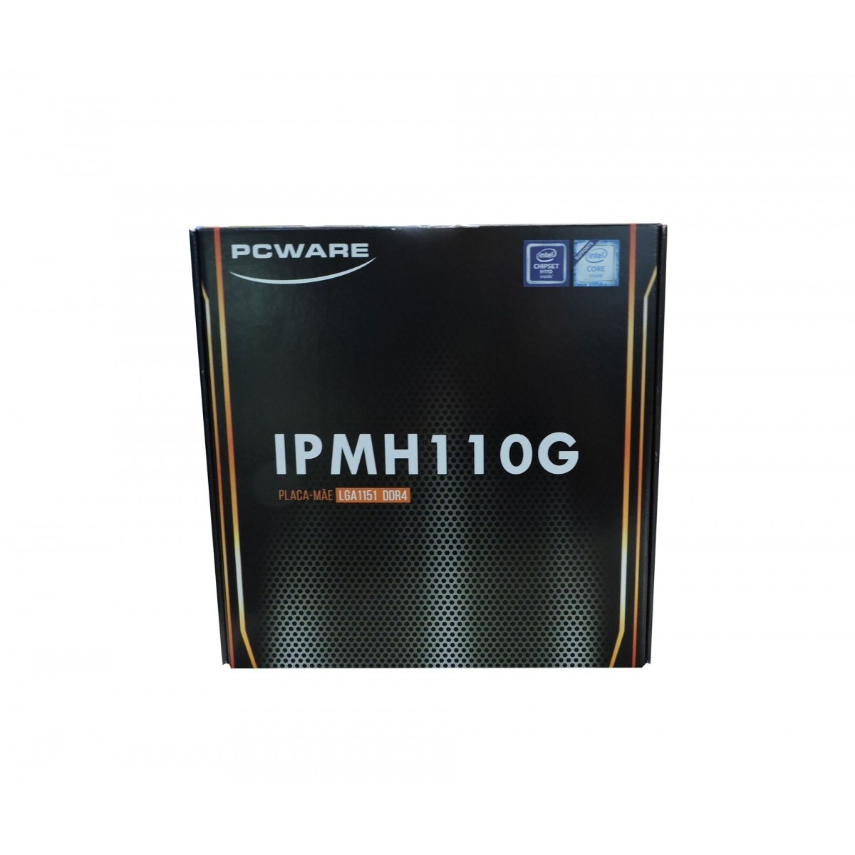 Placa Mãe PC-WARE IPMH110G P/ Intel Socket 1151, Chipset Intel H110, 2x DDR4 (Max 32GB), VGA/HDMI, LAN 10/100/1000, SATA 3, USB 3.0, PCI Express 16x / x1