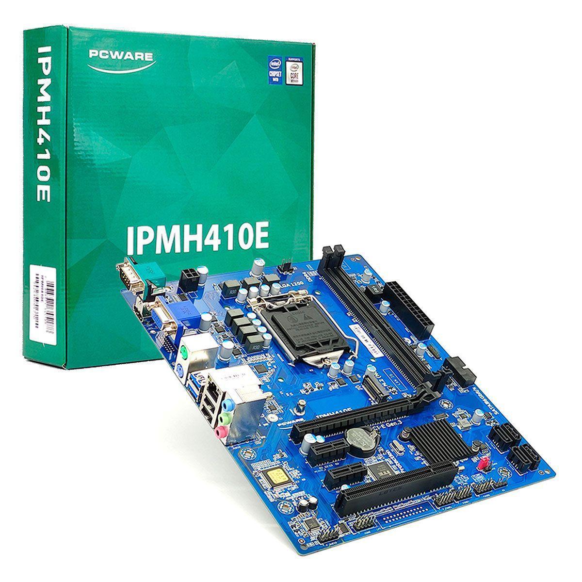 Placa Mãe PCWare IPMH410E Intel 10ª Geração, LGA 1200, DDR4