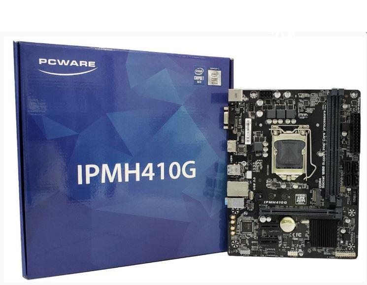 Placa Mae Pcware Ipmh410G - Ddr4 - Matx - Intel 10 Geração Socket LGA 1200 - Vga/hdmi/m.2