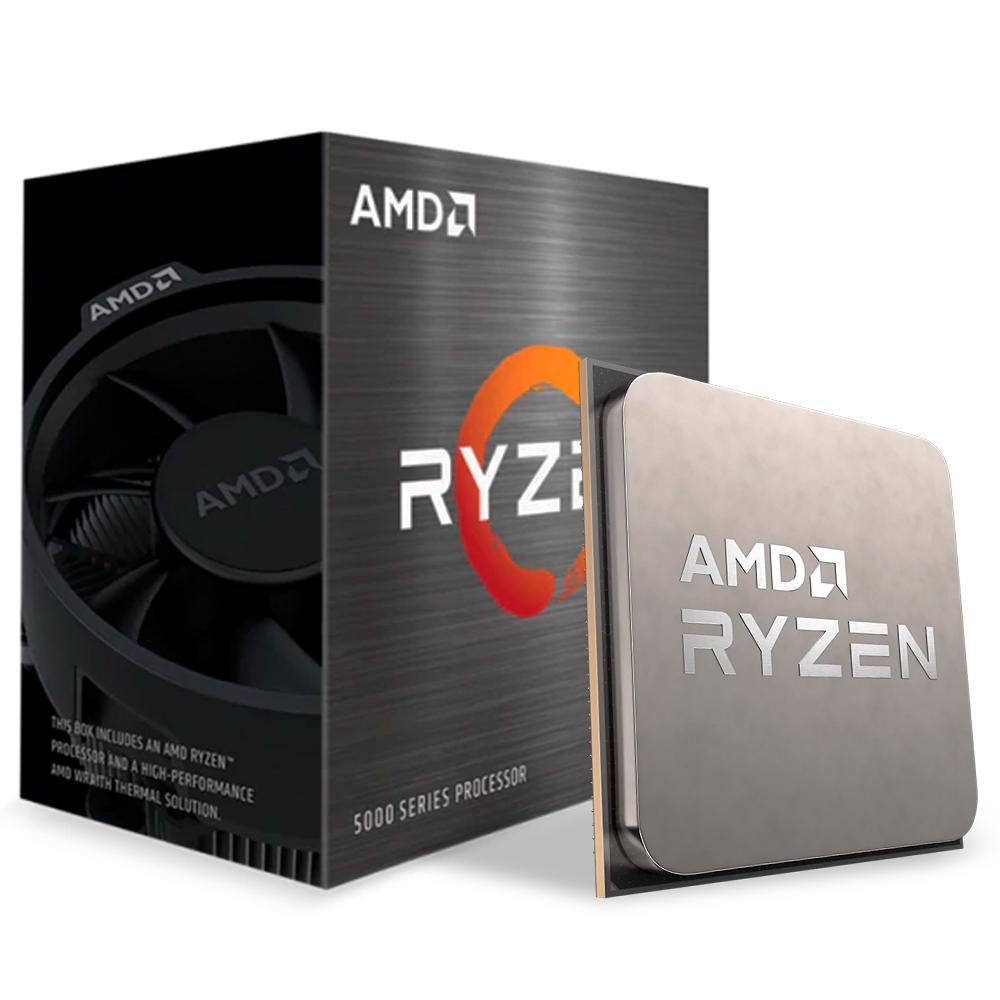 Processador CPU AMD Ryzen 5 5600X, Cache 35MB, 3.7GHz (4.6GHz Max Turbo), AM4 - 100-100000065BOX
