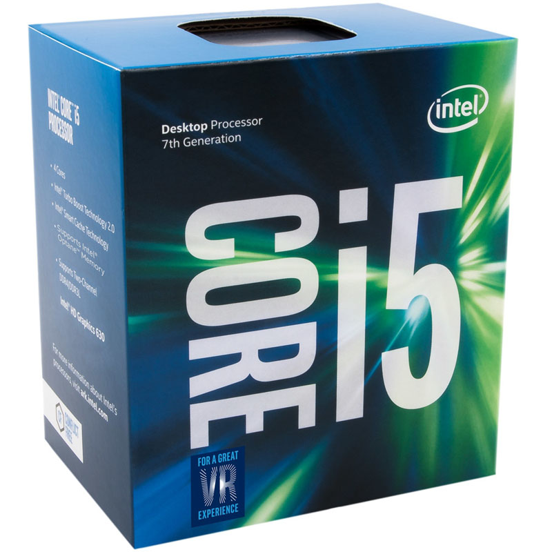 Processador CPU Intel Core i5-7400 Kaby Lake 7a Geração, Cache 6MB, 3.0Ghz (3.5GHz Max Turbo), LGA 1151 Intel HD Graphics - BX80677I57400