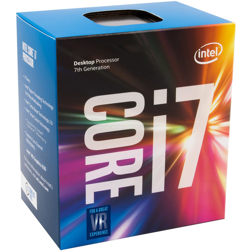Processador CPU Intel Core i7-7700 Kaby Lake 7th Geração, Cache 8MB, 3.6GHz (4.2GHz Max Turbo), LGA 1151 Intel HD Graphics - BX80677I77700