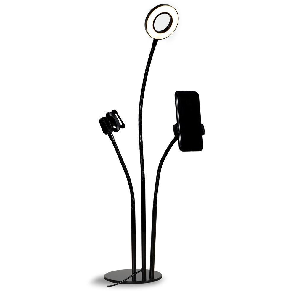 Ring Light USB e Suporte de Mesa para Smartphone e Microfone