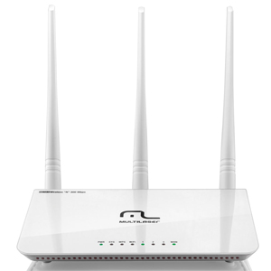 Roteador Multilaser Wireless 300Mbps 2.4GHz, 3 Antenas 5dBi - RE163