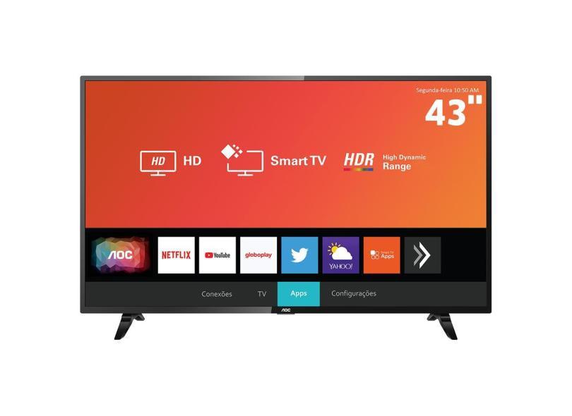 Smart TV LED 43´ Full HD AOC, 3 HDMI, 2 USB, Wi-Fi, HDR - 43S5295/78G