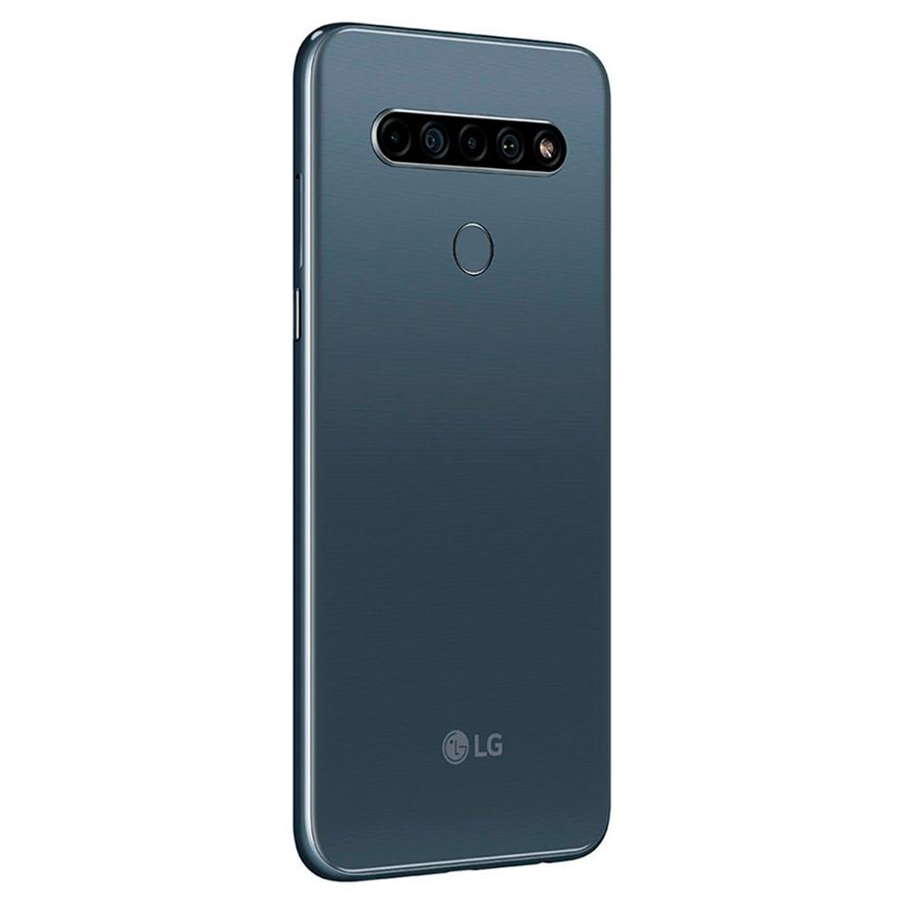 """Smartphone LG K61 4G , Processador Octa Core 2.3GHz, Dual Chip, Tela 6,53"""", Android 9.0 Pie, Armazenamento 128GB, Memória de 4GB, Cor Preto Titaniun - LM-Q630BAW"""