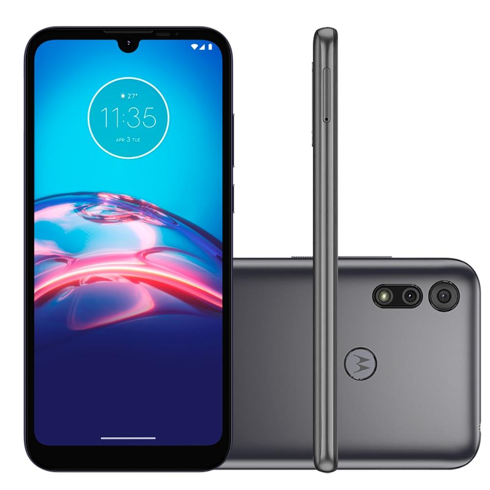 Smartphone Motorola Moto E6i 4G, 32GB, RAM 2GB, Octa-Core, Câmera 13MP, 3000mAh, Cinza - XT2053-5 - PANC0000BR