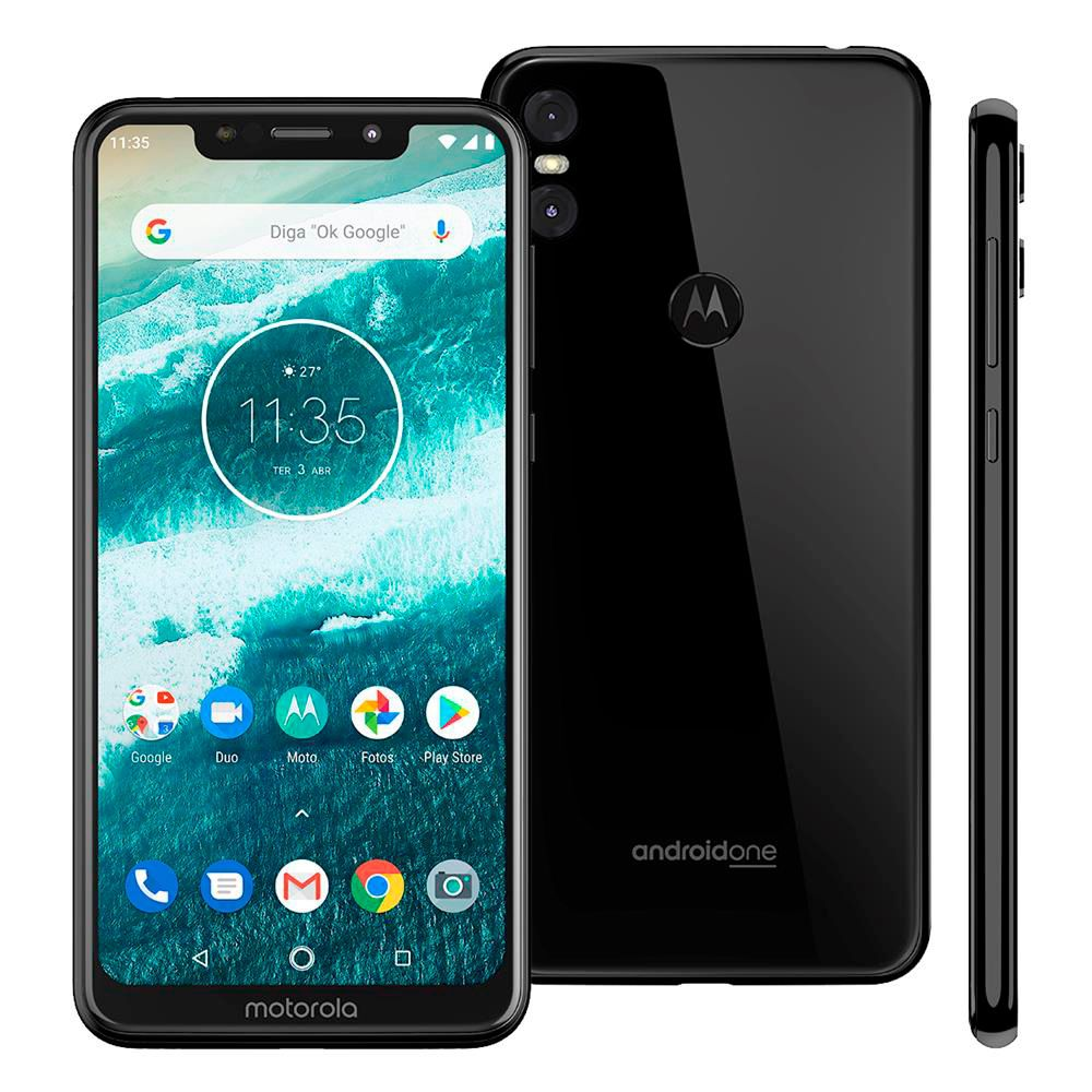 Smartphone Motorola One, 64GB, 13MP, Tela 5.9´, Preto - XT1941