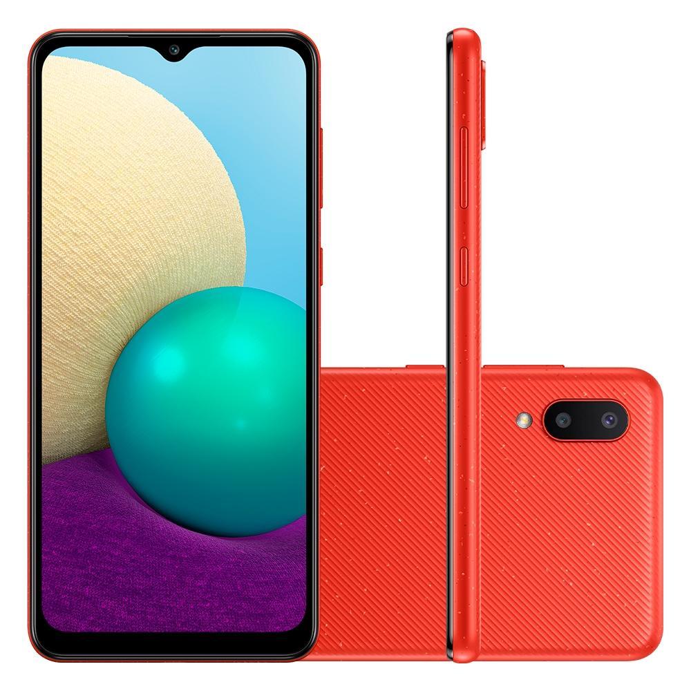 Smartphone Samsung Galaxy A02, Camera Dupla Traseira 13MP + 2MP, Selfie de 5MP, Tela Infinita de 6.5