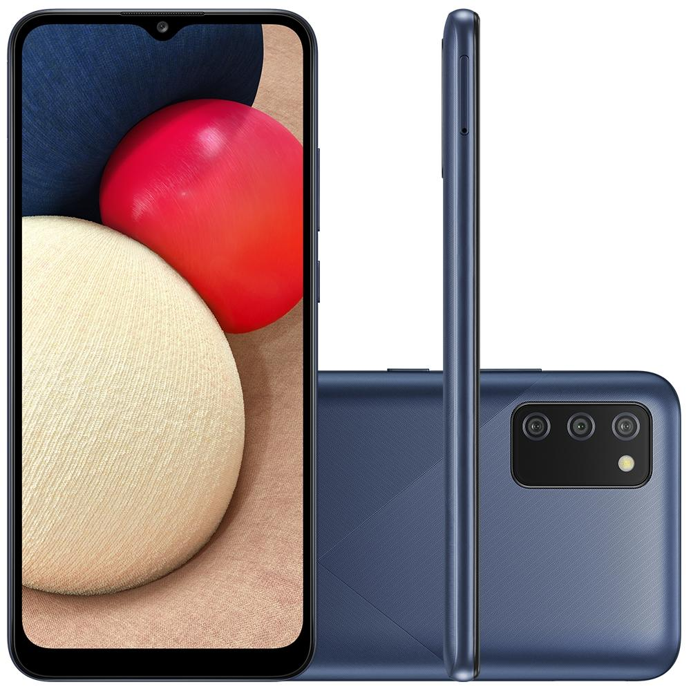 Smartphone Samsung Galaxy A02s, Camera Tripla Traseira 13MP + 2MP + 2MP, Selfie de 5MP, Tela de 6.5