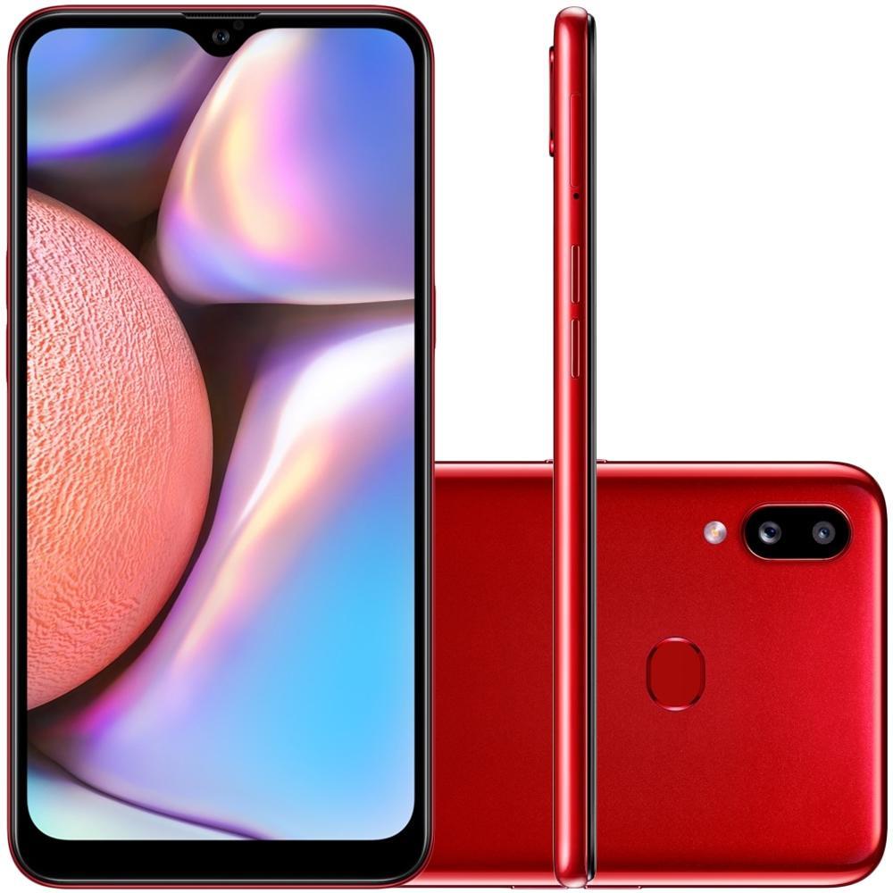 Smartphone Samsung Galaxy A10s, 32GB, 13MP, Tela 6.2´, Vermelho - SM-A107MZRDZTO