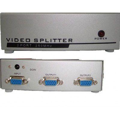Splitter VGA 1x2 Distribuidor de Sinal De Video VGA