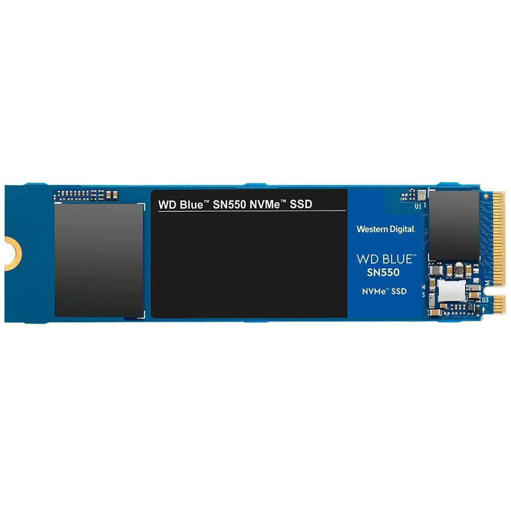 SSD WD Blue SN550, 500GB, M.2, PCIe, NVMe, Leituras: 2400Mb/s e Gravações: 1750Mb/s - WDS500G2B0C