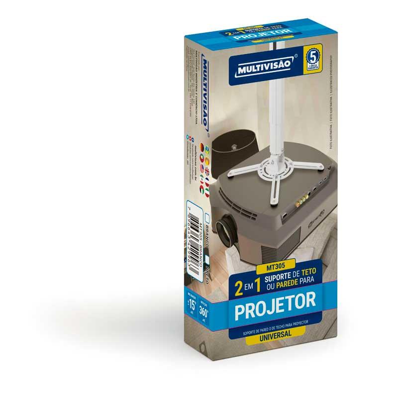 Suporte Para Projetor Mt-305-pt Preto Multivisão