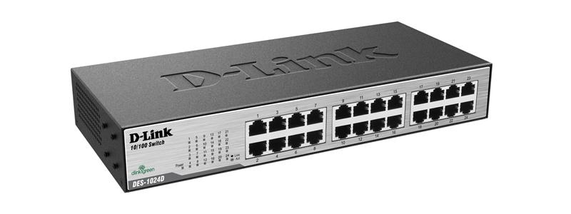 Switch D-Link DES-1024D/Z 24 Portas 10/100Mbps