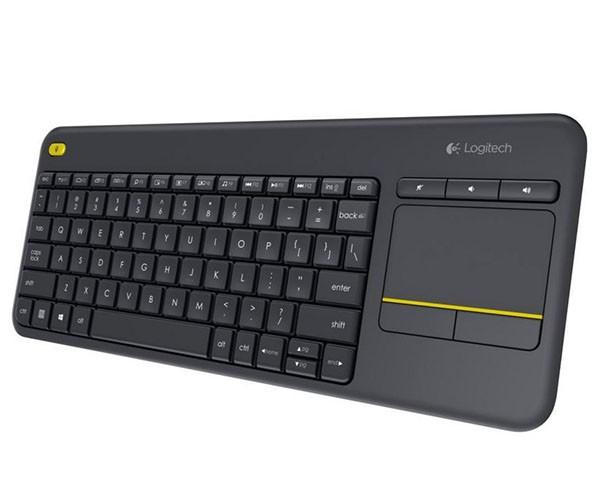 Teclado Logitech Sem Fio Touch K400 Plus Compatível com Smart TV - 920-007125