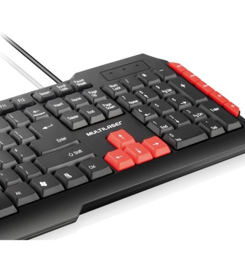 Teclado Multilaser Gamer Multimídia Red USB - TC160