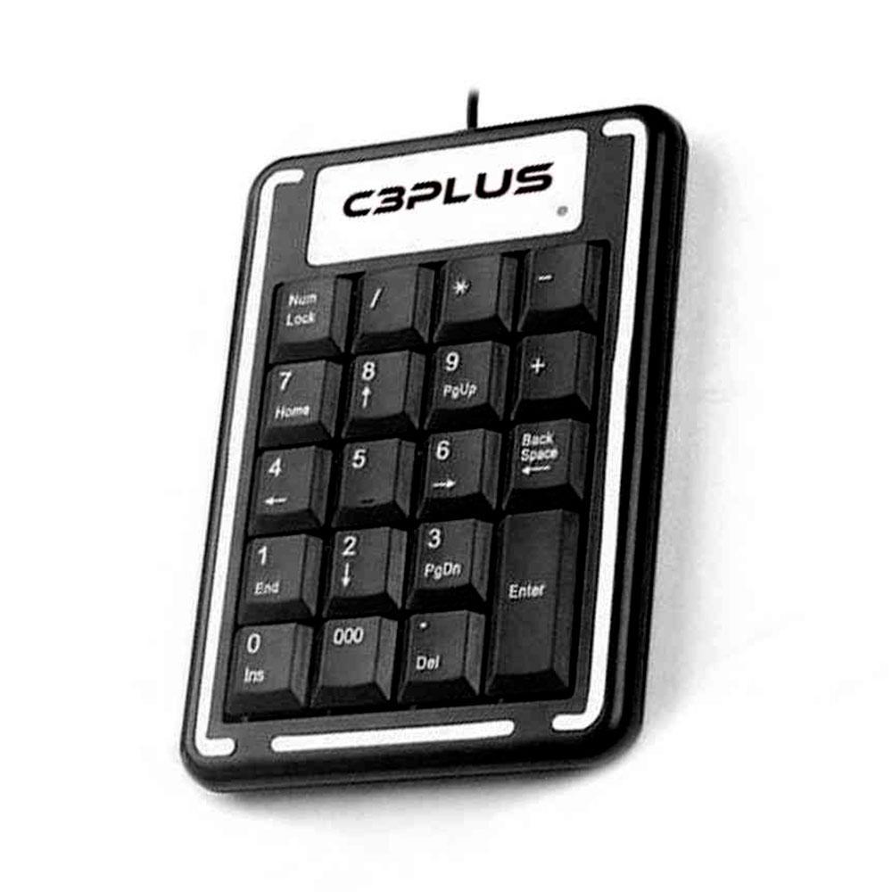 Teclado Númerico C3Plus, USB, Preto - KN-11BK