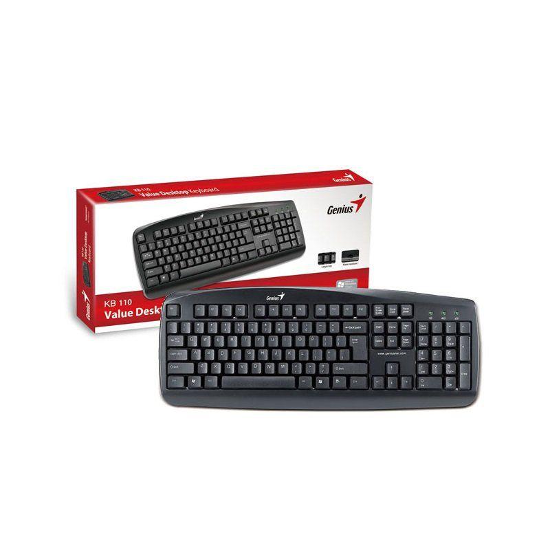 Teclado USB Genius KB-110 Preto - 31300700141