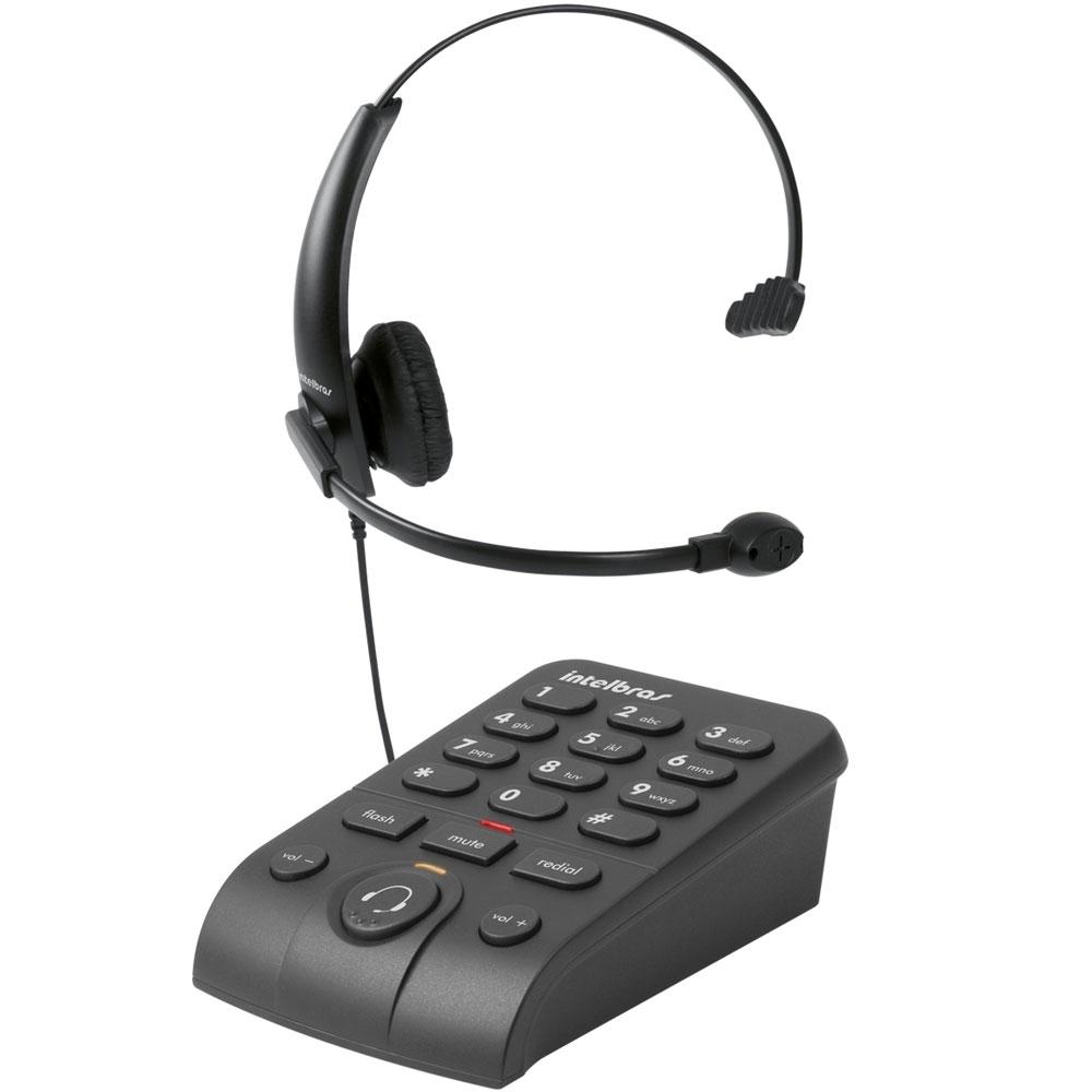 Telefone Intelbras Headset C/ Base Discadora HSB-50