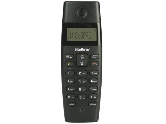 Telefone S/ Fio Digital Intelbras C/ Identificador de Chamadas Preto - TS40ID