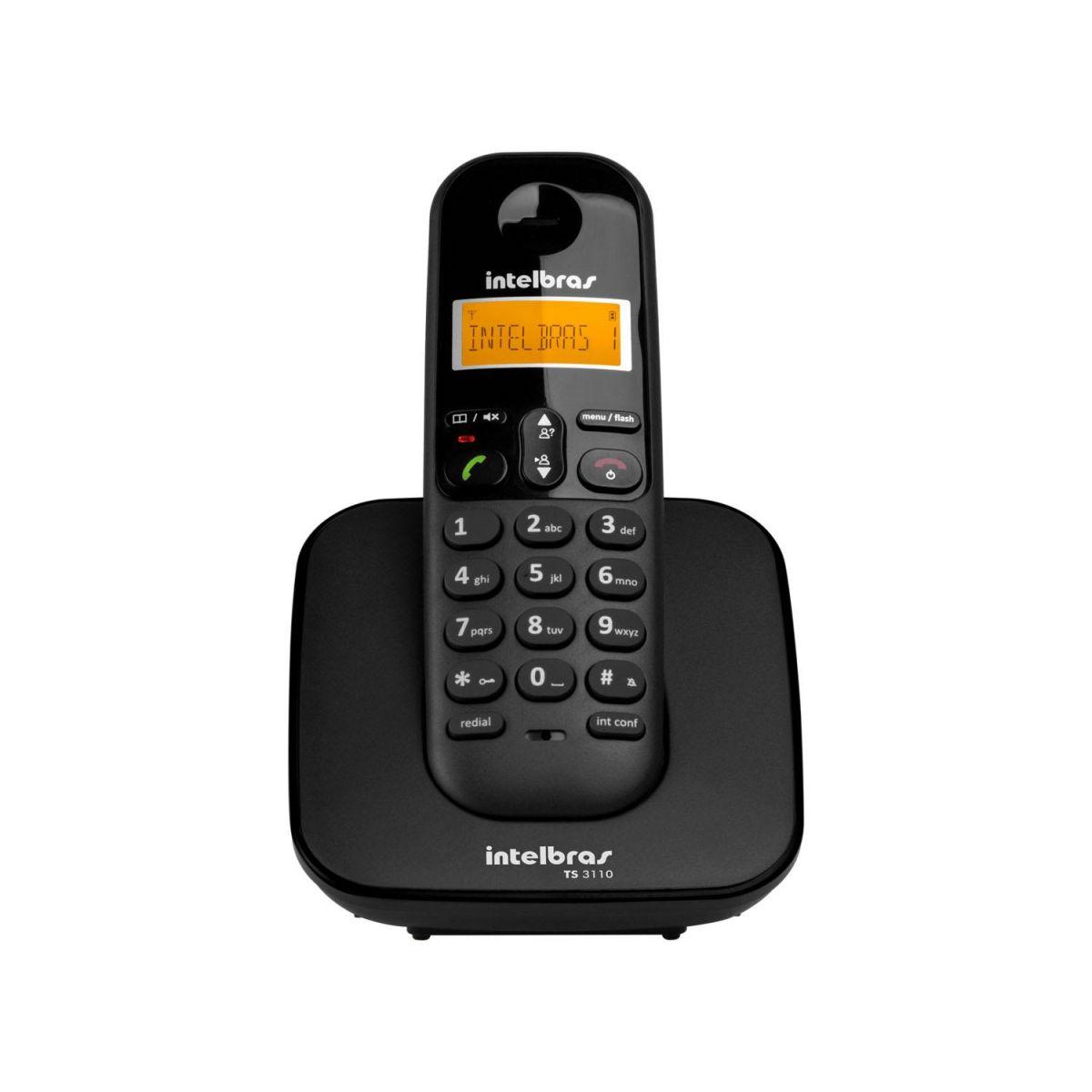 Telefone S/ Fio Intelbras Identificador de Chamadas - TS 3110