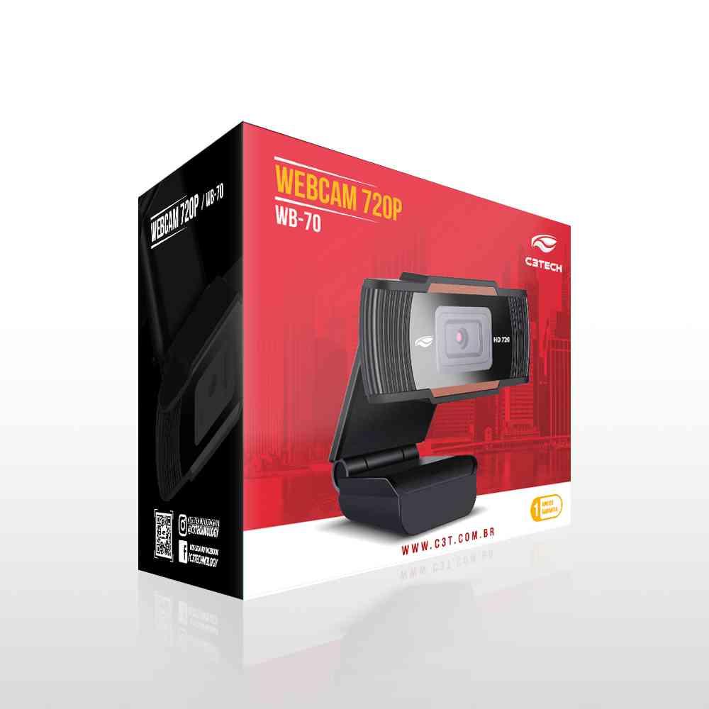 WEBCAM C3 Tech HD 720P WB-70BK