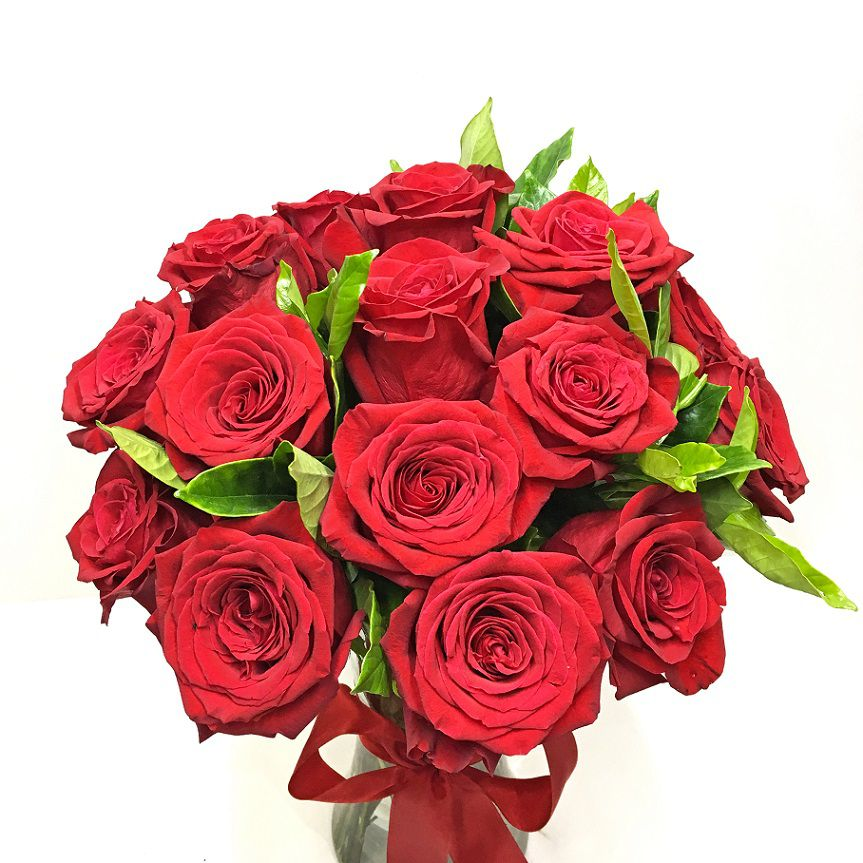 15 Rosas Colombianas no Vidro