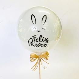 Balão Feliz Páscoa com palito