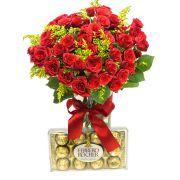 Encanto de Mini Rosas e Ferrero