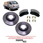Kit Completo Dianteiro Disco Freio Pastilha e Alinhador Hyundai Hr Até 2013