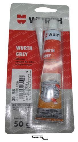 Cola Silicone Alta Temperatura Wurth Igual Loctite Grey 5699