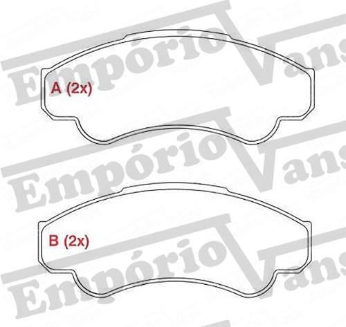 Pastilha Freio Dianteira Aro R16 Ducato Boxer Jumper 2.3 2.8