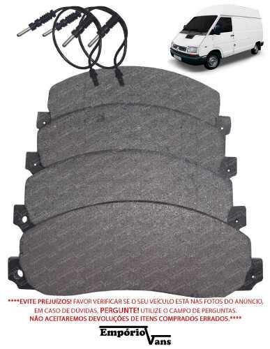 Pastilha Freio C/ Sensor Dianteira Renault Trafic