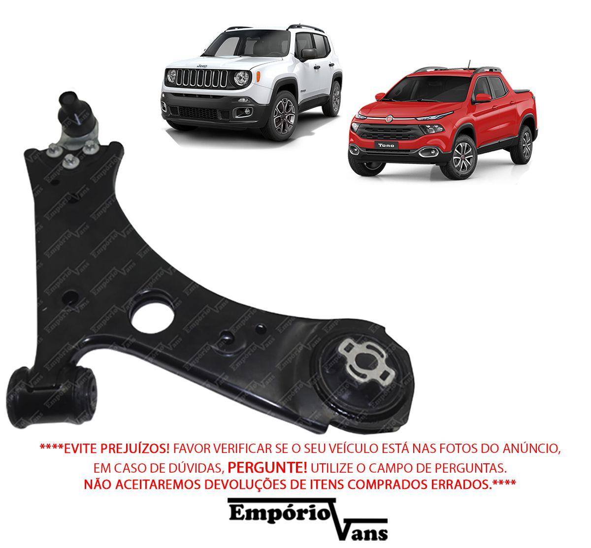 Bandeja Com Pivo LD Completa Fiat Toro JEEP Renegade 4x4