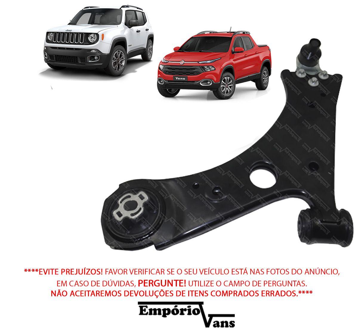 Bandeja Com Pivo LE Completa Fiat Toro JEEP Renegade 4x4